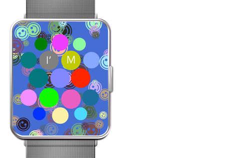 画面アプリケーションと時計私は幸せです