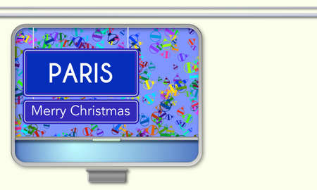 From the train window, Paris Merry Christmas