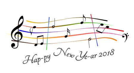 Happy New Year 2018 musical score