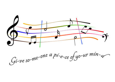 Musical score Give someone a piece of your mind