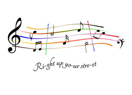 Right up your street music score