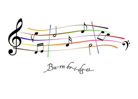 Musical score Burn bridges