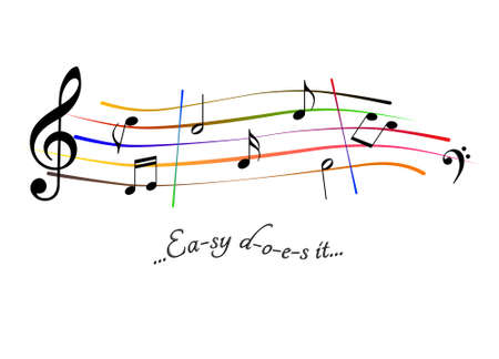 Musical score Easy does it