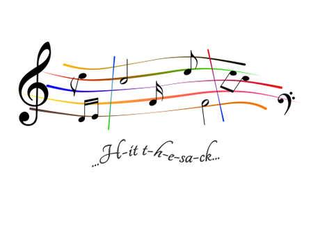 Musical score Hit the sack Stock Photo