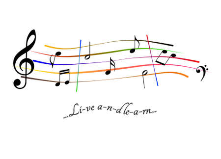 Musical score Live and learn