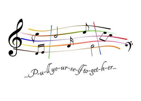 Musical score Pull yourself together