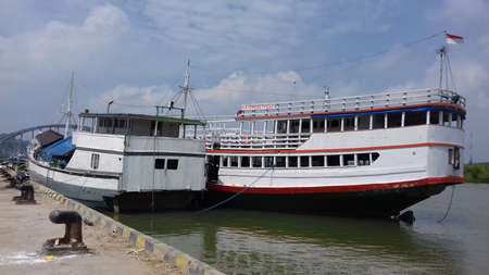 rivulet: Boats are anchor at Brondong harbor