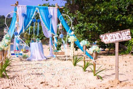 Romantic wedding ceremony on the beach Stock fotó