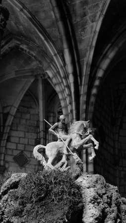 devotions: Saint George killing the dragon Stock Photo