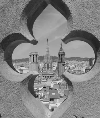 barcelona cathedral: Barcelona Cathedral viewpoint towards