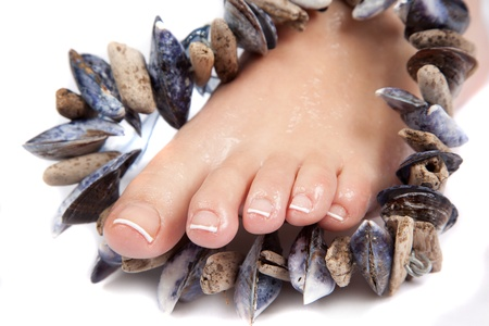 French Pedicure Stock Photo - 10103378