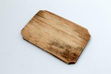 kitchen tools: Wooden cutboard and kitchen tools isolated on white Stockfoto
