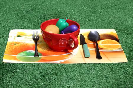 plastic toys: Silverware for soupe, plastic toys
