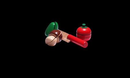 wooden toy: Bunch of wooden toy vegetables