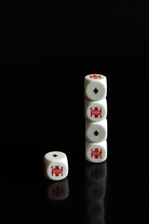 standout: Standout king from the crowd, poker game bricks Stock Photo