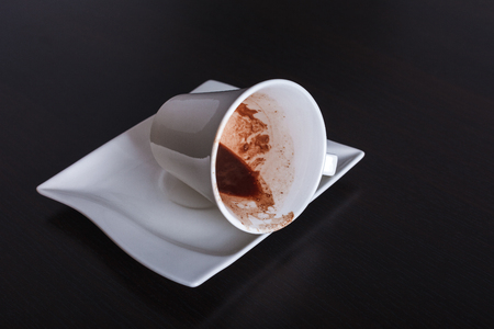 foretell: Turkish tradition fortune telling coffee cup Stock Photo