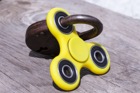 Anti stress and relaxation fidgets, spinner for exhausted people