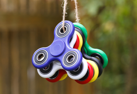 cool gadget: Anti stress and relaxation fidgets, spinner for exhausted people