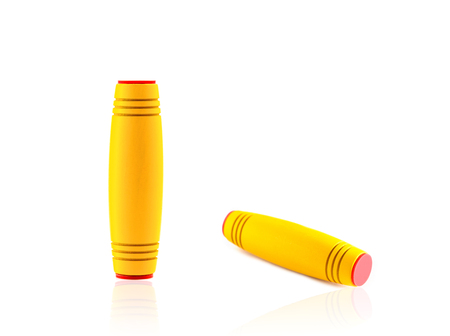 Different colour stress and anxiety relief fidget stick, adhd and focus coordination Stock Photo