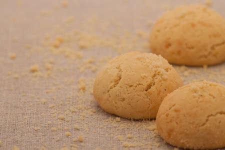 light brown: oatmeal cookies light brown circular shape Stock Photo