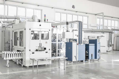 Factory and industrial production plant for the manufacture of beverages Stok Fotoğraf - 64764842