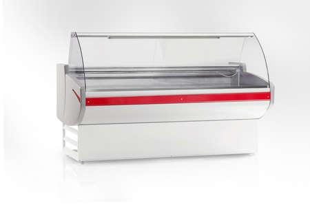 refrigeration showcase store close-up on a white background 版權商用圖片