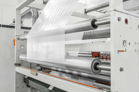 plant and plant for the production of polyethylene and cellophane for packaging Stockfoto