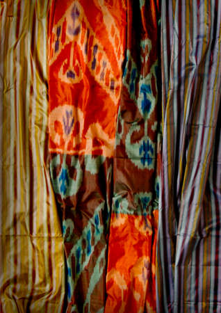 flexure: background fabrics and textiles with colorful oriental ornate ornament and pattern