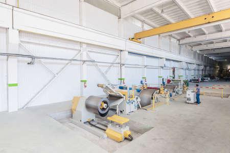 metal working: Machine for slitting of steel sheets in rolls. sheet metal working in rolls