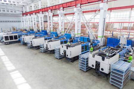 molding and cast press machine for the manufacture of plastic parts using polymers for  refrigerator Stok Fotoğraf - 70540496
