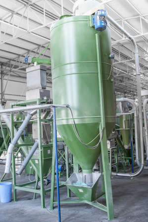 salvaging: factory equipment for processing and recycling of plastic bottles.