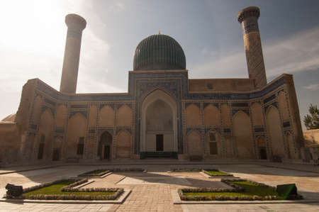 파노라마 복잡한, Gur Emir, Amir Timur의 매장 장소. 중앙 아시아의 고대 건축