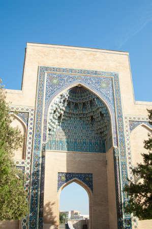 아치, Tamerlane의 묘소에 주요 입구. 중앙 아시아의 고대 건축