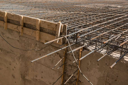Metal construction of rods for concrete pouring