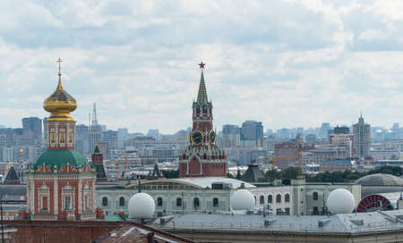 panorama of Moscow overlooking the Kremlin and the Church