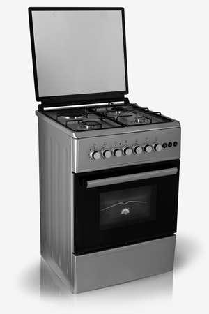 modern household kitchen oven on a white background Imagens