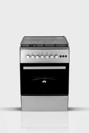 modern household kitchen oven on a white background