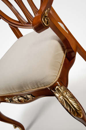 Luxury gold plated kitchen chair in baroque style 版權商用圖片