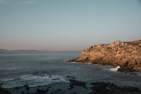 sea from a viewpoint in a sunset
