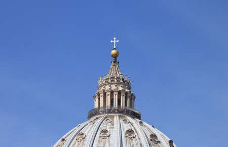 michelangelo: Vatican Citiy, San Pietro Church, the Dome was desing by Michelangelo Stock Photo