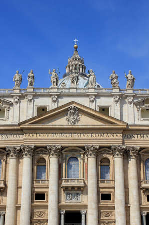 messa: Basilica of Saint Peter (San Pietro) in Vatican, Rome, Italy. The biggest church in Italy Stock Photo