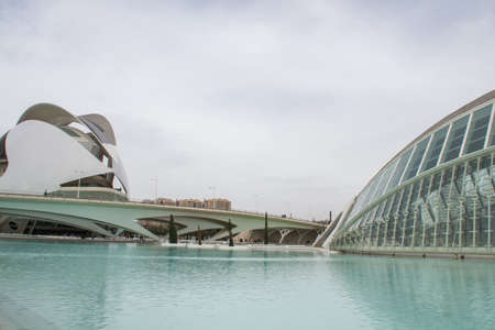 Hemisferic, a planetary in the City of Arts and Science, Valencia, Spain. Editorial