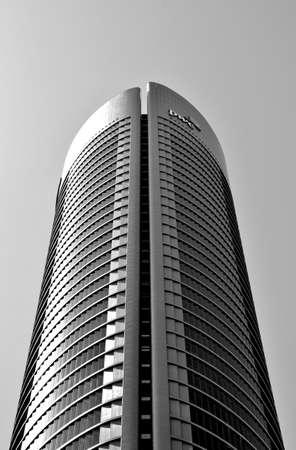 One of four modern skyscraper (Cuatro Torres) in Madrid, Spain