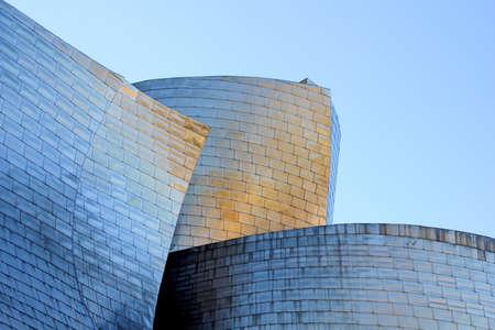 30 november 2015, Bilbao, Spain: detailed view of The Guggenheim Museum .