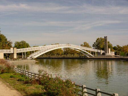 Photo of a bridge in a park