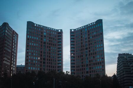 Photo of buildings in the city of Valencia 版權商用圖片