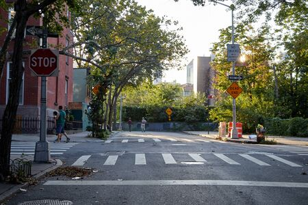 Photo of a cross walk in the city of Brooklyn