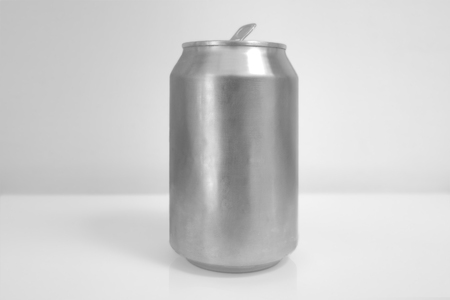 Aluminum Soda Can over White Background Banco de Imagens