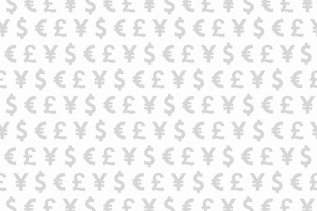 loot: White and Grey Dollar Euro Yen Pound Currencies Pattern Background