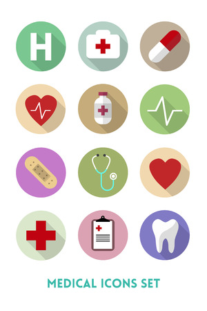Healthcare and Medical Flat Icons Set Pack